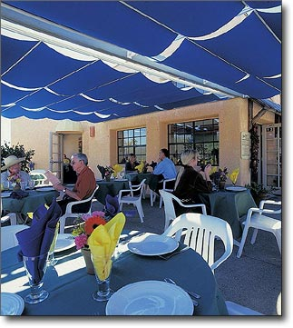 ShadeTree Commercial Patio Canopy for Shelby Café  restaurant