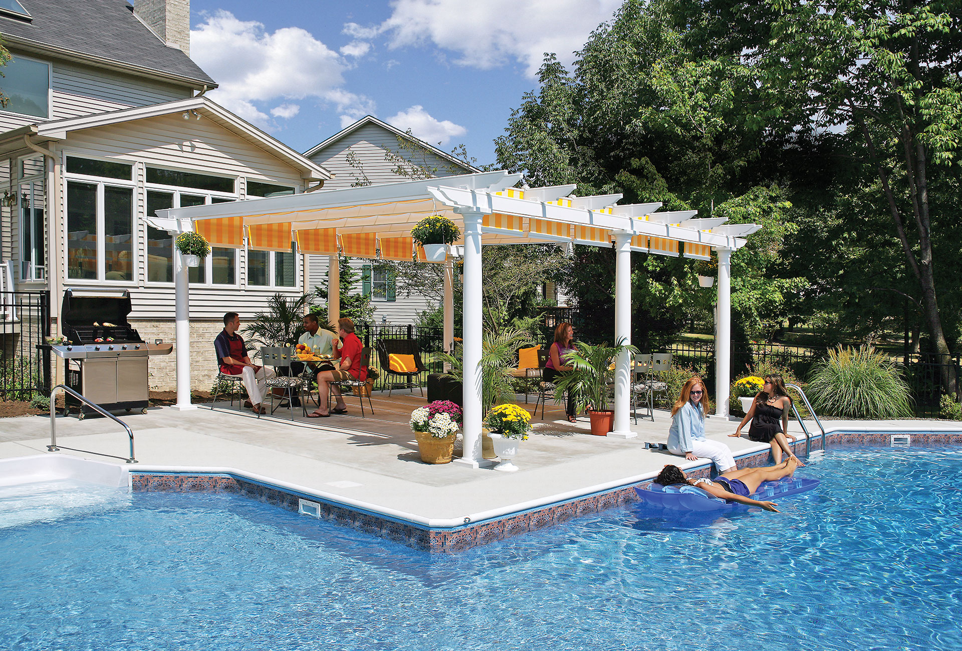 Custom Pergolas & Retractable Roof Pergolas | Covered Pergolas| Attached Pergolas