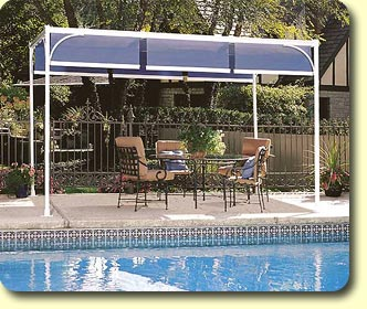 A Free-Standing alternative the CAPRI II shade makes a great stand-alone & Outdoor Sun Shade | Free Standing Awning | ShadeTree® Canopies