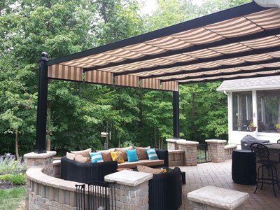 deluxe Bungalow & Residential Retractable Canopies and Shade Canopies | Shadetree Canopies