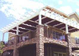 Photo of shade system shown in complex CAD
